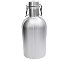 Kegco GR64-SS Beer Growler - 64 oz Single Wall Stainless Steel Flip Top