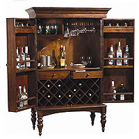 Cherry Hill Hide-A-Bar Wine & Spirits Cabinet