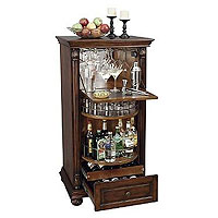 Cognac Hide-A-Bar Wine & Spirits Cabinet