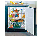 Marvel 6ADAM-BS-F ADA All Refrigerator - Black Cabinet, Solid Full Wrap ST/ST Door and Handle