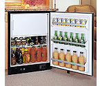 Marvel 6CIM-BB-O Ice Maker Refrigerator - Black Cabinet / Black Overlay Door