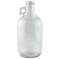 64 oz. Clear Glass Beer Growler