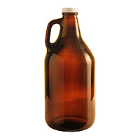 Libbey 64 oz. Amber Glass Beer Growler
