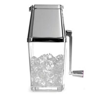 Metrokane 7177 Retro Ice Crusher with Clear Base