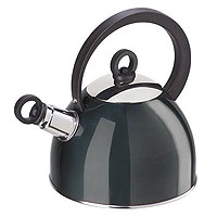 LAST ONE!  Black Stainless Steel Whistling Kettle