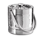 Oggi 7235 Hammered Stainless Steel Double-Wall Ice Bucket