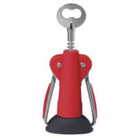 Oggi 7306.2 Red Jumbo Corkscrew and Bottle Opener with Stand