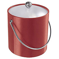 Red Vinyl Ice Bucket
