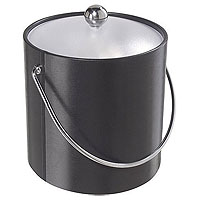 Black Vinyl Ice Bucket