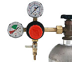 Taprite T742HP - Primary Double Gauge CO2 Gas Beer Regulator with Polyethylene Knob