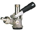 7485E D System Keg Tap Coupler - Black Lever Handle