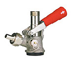 7485E-R - D System Keg Tap Coupler w/ Red Lever Handle