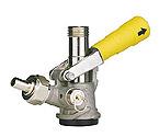 7485E-G - D System Keg Tap Coupler w/ Gold Lever Handle