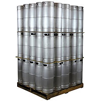 Pallet of 75 Kegco brand new 5 Gallon Commercial Kegs - Threaded D System Sankey Valve