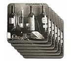 Vintage Wine Black & White Coasters