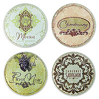 Vineyard Glass Coaster Set