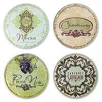 Vineyard Glass Coaster Set