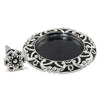 Hollywood Deco Black Enamel Coaster and Stopper Gift Set