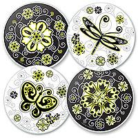 Urban Garden Glass Coaster Set