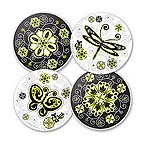 Urban Garden Glass Coaster Set
