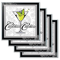 Cocktail Couture Glass Coaster Set