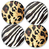 Wild Spirits Glass Coaster Set