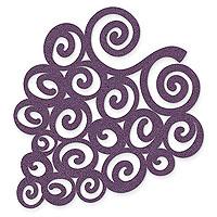 Purple Swirled Grapes - Felt Coasters