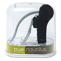True Fabrications Nautilus Corkscrew Wine Opener in Black