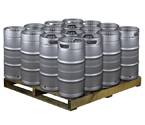 Pallet of 16 Kegco HS-K7.75G-DDI Kegs -  7.75 Gallon Commercial Keg with Drop-In D System Sankey Valve
