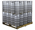 Pallet of 32 Kegco HS-K7.75G-DDI Kegs -  7.75 Gallon Commercial Keg with Drop-In D System Sankey Valve