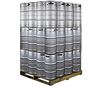 Pallet of 48 Kegco HS-K7.75G-DDI Kegs -  7.75 Gallon Commercial Keg with Drop-In D System Sankey Valve