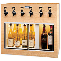 Monterey 6 Bottle Wine Dispenser Preservation Unit - Oak