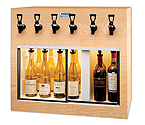 WineKeeper Monterey 6 Bottle Wine Dispenser Preservation Unit - Oak - 7768