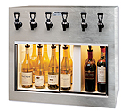 WineKeeper Monterey 6 Bottle Wine Dispenser Preservation Unit - Special Laminate - 7769