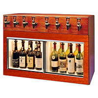 Monterey 8 Bottle Wine Dispenser Preservation Unit - Mahogany
