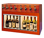 WineKeeper Monterey 8 Bottle Wine Dispenser Preservation Unit - Mahogany - 7773