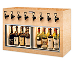 WineKeeper Monterey 8 Bottle Wine Dispenser Preservation Unit - Oak - 7774