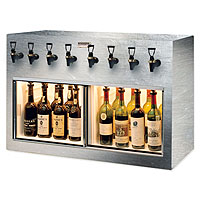 Monterey 8 Bottle Wine Dispenser Preservation Unit - Brushed Stainless Steel