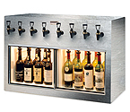 WineKeeper Monterey 8 Bottle Wine Dispenser Preservation Unit - Brushed Stainless Steel - 7776