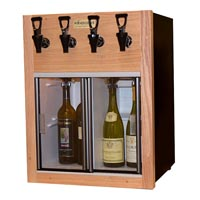 Napa 4 Bottle 2 Red 2 White Wine Dispenser Preservation Unit - Oak