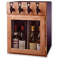 Napa 4 Bottle 2 Red 2 White Wine Dispenser Preservation Unit - Oak