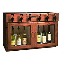 Napa 6 Bottle 3 Red 3 White Wine Dispenser Preservation Unit - Mahogany