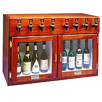 Napa 8 Bottle 4 Red 4 White Wine Dispenser Preservation Unit - Mahogany