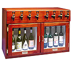 WineKeeper Napa 8 Bottle 4 Red 4 White Wine Dispenser Preservation Unit - Mahogany - 7996