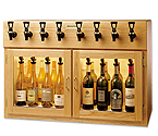WineKeeper Napa 8 Bottle Wine Dispenser Preservation Unit - Oak - 7997