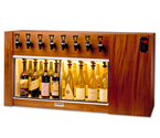 WineKeeper The Magnum 8 Bottle Wine Dispenser Preservation Unit - Mahogany - 8002