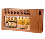 WineKeeper The Magnum 8 Bottle Wine Dispenser Preservation Unit - Oak - 8003