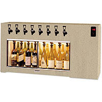 The Magnum 8 Bottle Wine Dispenser Preservation Unit - Laminate