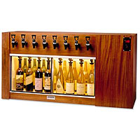 The Magnum 8 Bottle Wine Dispenser Preservation Unit - Mahogany