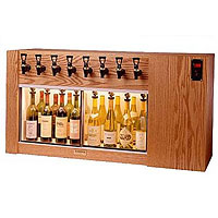 The Magnum 8 Bottle Wine Dispenser Preservation Unit - Oak